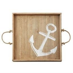 Mud Pie Anchor Wood Tray