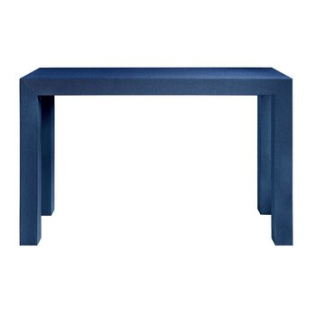 Bungalow 5 Lacquered Grasscloth Parsons Console Table- Navy