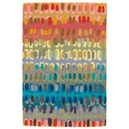 Dash & Albert Paint Chip Micro Hooked 3x5 Wool Rug