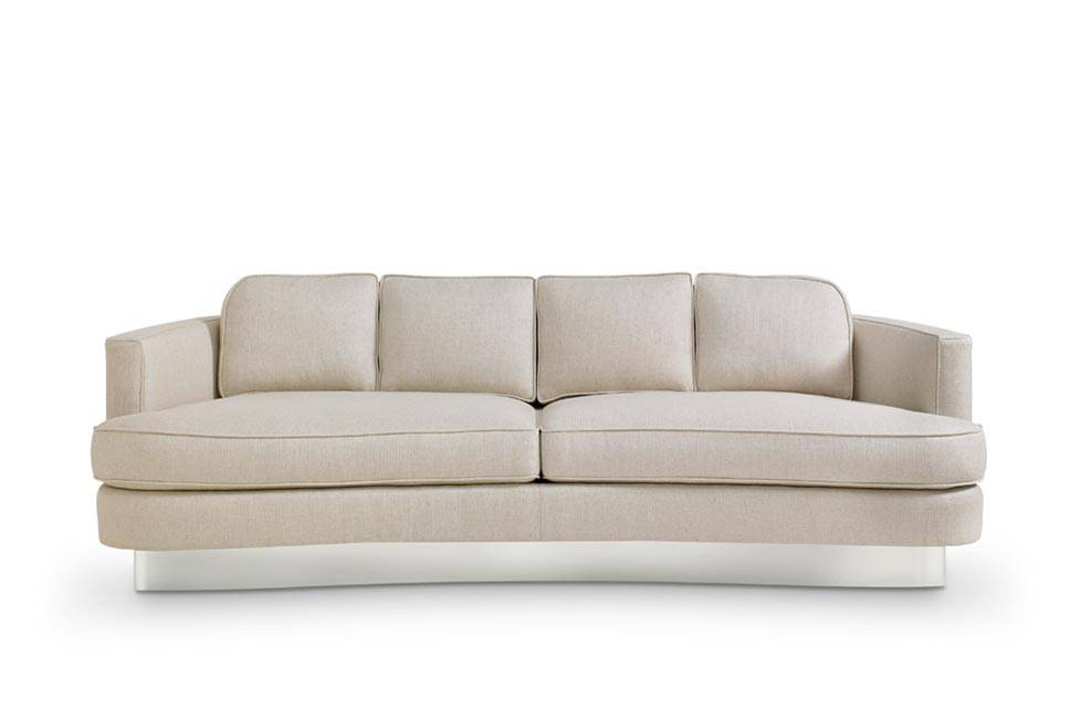 Bolier Cubist Curve Sofa  Stainless Steel Base