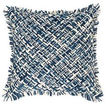 "Pine Cone Hill Bait Loop Blue 20""x20"" Pillow"