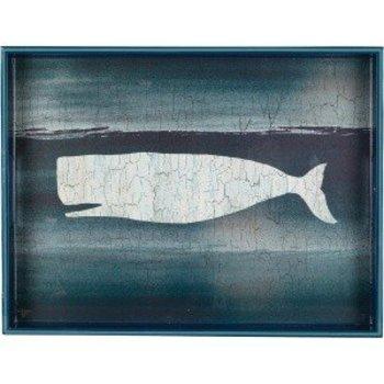 Rockflowerpaper Whale Indigo Tray 15x20