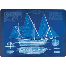 Blue Print Ship Placemats S/4