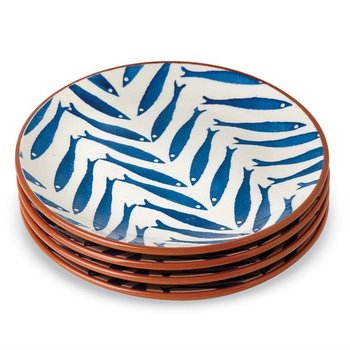 Mud Pie Blue Fish Plate