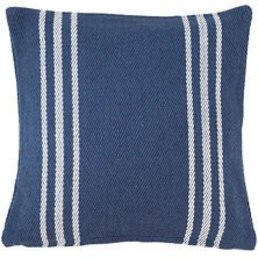 "Dash & Albert Lexington Navy/White Indoor/Outdoor 22"" Pillow"
