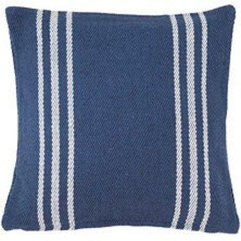 """Dash & Albert Lexington Navy/White Indoor/Outdoor 22"""" Pillow"""