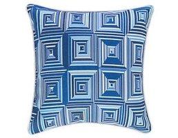 """Dash & Albert Geo Blue Indoor/Outdoor 22"""" Pillow"""