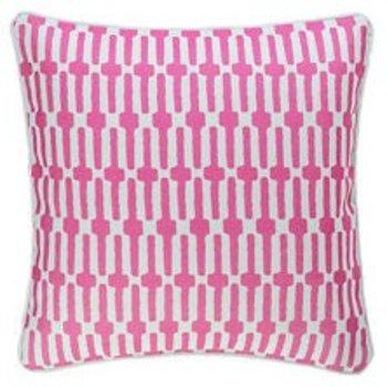 """Dash & Albert Links Fuchsia Indoor/ Outdoor 20"""" Pillow"""