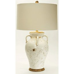 Olivaris Ceramic Lamp w/Linen Shade