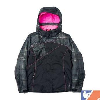 SPYDER SPYDER Dreamer Jacket Girl's 2015/2016 - 12 - Black/Black Check Plaid Print/Bryte Bubblegum