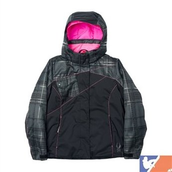 SPYDER SPYDER Dreamer Jacket Girl's 2015/2016 - 14 - Black/Black Check Plaid Print/Bryte Bubblegum