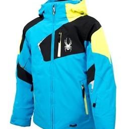 SPYDER SPYDER Boy's Leader Jacket 2014/2015 - 16 - Electric Blue/Black/Acid