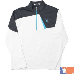 SPYDER SPYDER Charger Therma Stretch T-Neck 2015/2016 - XXL - Cirrus/Black/Electric Blue