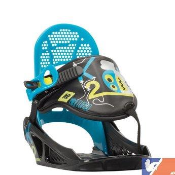 K2 K2 Mini Turbo Jr Snowboard Bindings 2015/2016 - XSmall - Black