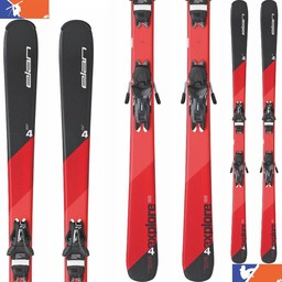 Elan EXPLORE 4 RED LS SKIS W/ EL 9.0 BINDINGS 2016/2017
