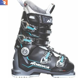 NORDICA SPEEDMACHINE 75 WOMENS SKI BOOT 2018/2019 BLACK/ANTHTACITE/LIGHT BLUE