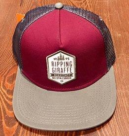 RIPPING GIRAFFE RGB Maroon/Grey Mesh Snapback