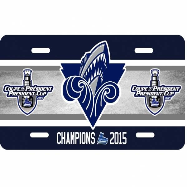 License Plate - 2015 President Cup Champions