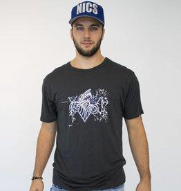 T-shirt logo orage -