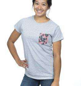 T-shirt à poche pour femme