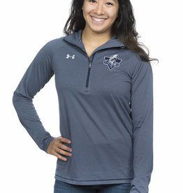 Under Armour Chandail Zip 1/4 Under Armour Stripe Tech - femme