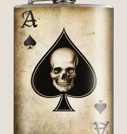 Ace of Spade Skull Flask