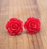 Large Red Rose Stud
