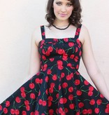 Marlena Dress Black/Cherries