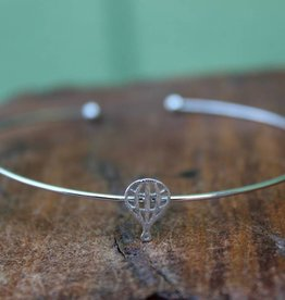 Silver Hot Air Balloon Bracelet