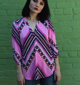 Simone Tunic Pink Geometric