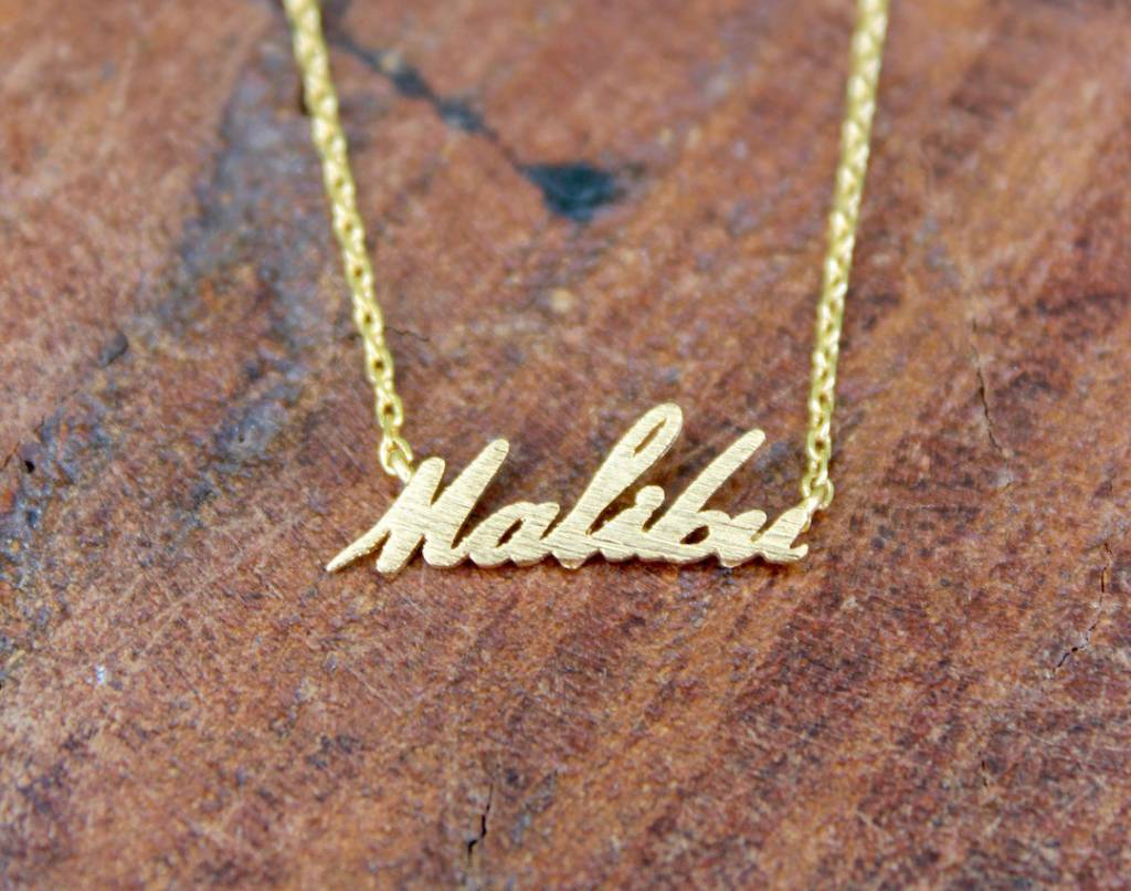 pendant letter script initial cursive necklace gold a diamond
