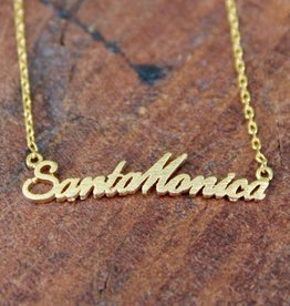 Santa Monica Cursive  Necklace