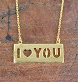 Baby I Heart You Gold Necklace