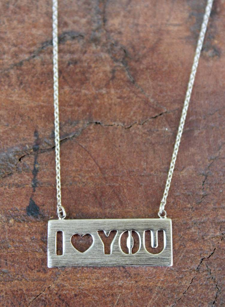 Baby I Heart You Silver Necklace