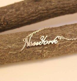 New York Cursive Necklace