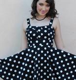 Marlena Dress Black/White Polka Dot