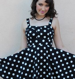 Marlena Dress Black/White Polka Dot