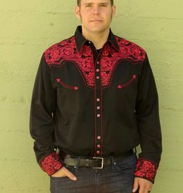 Floral Tooled Embroidered Shirt