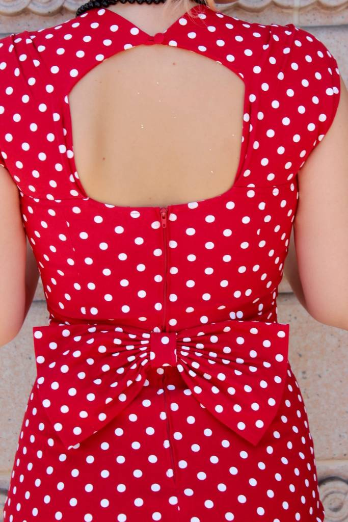 Love Fitted Polka Dot Dress