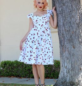 White Cherry Swing Dress