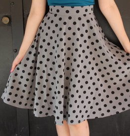 Thrills Skirt Grey & Black Polka Dot