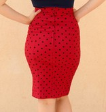 Polka Dot Pencil Red & Black