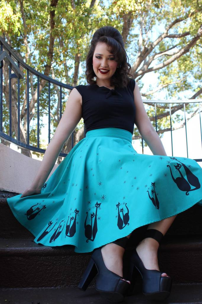 El Gato Rockabilly Skirt