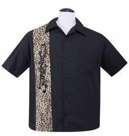 Leopard Music Note Applique Button Up