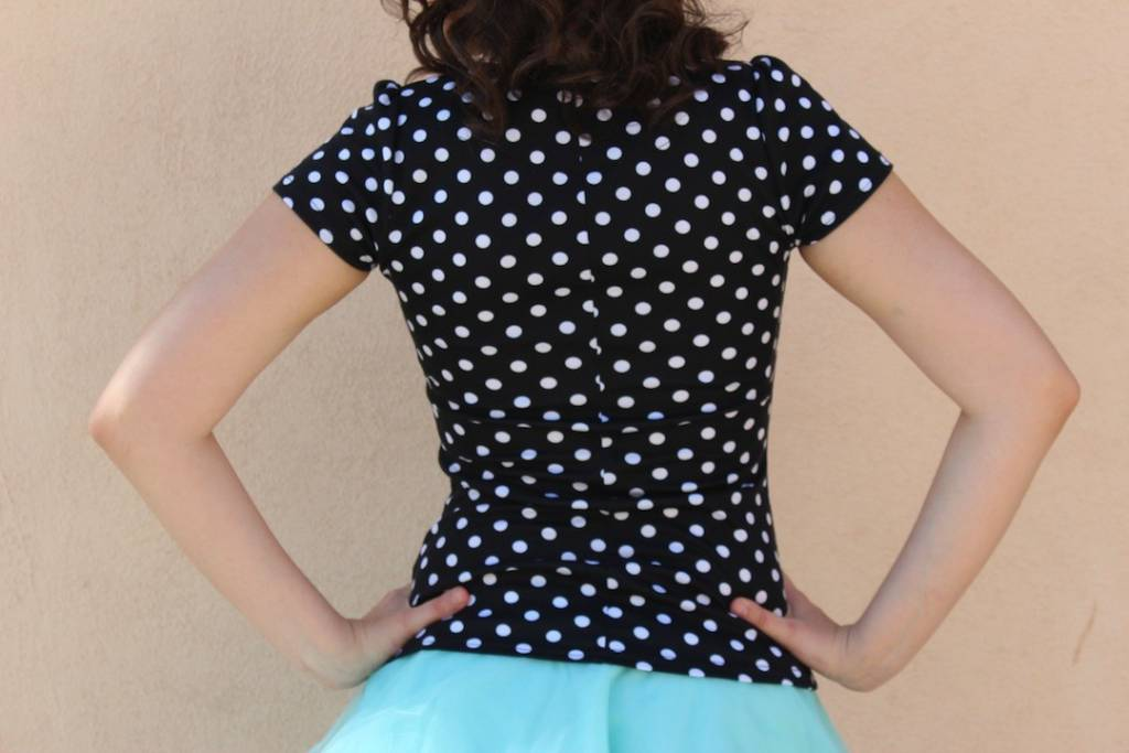 Sophia Top Black Polka Dot