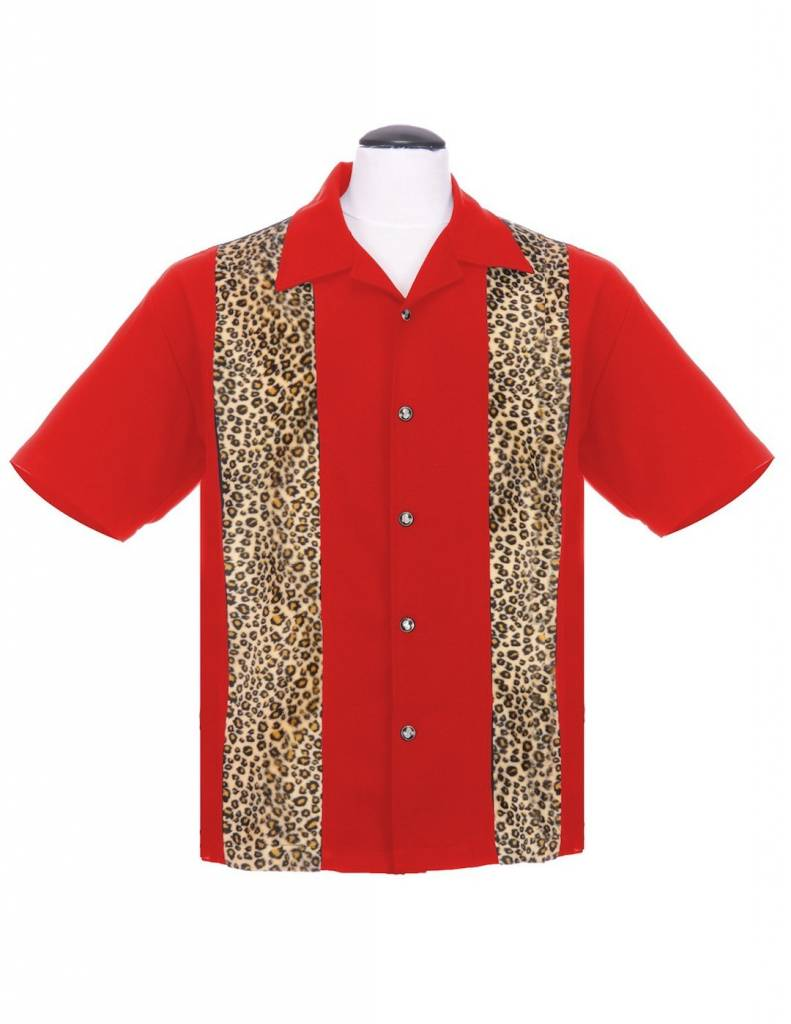 Leopard Panel Red