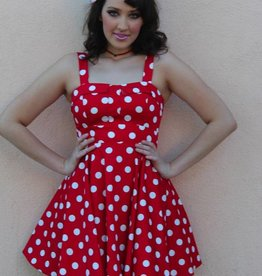 Marlena Dress Red/White Polka Dot