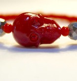 Tarina Tarantino Skull Bracelet Red/Orange