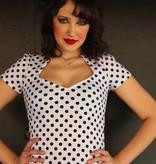 Sophia Top White Polka Dot