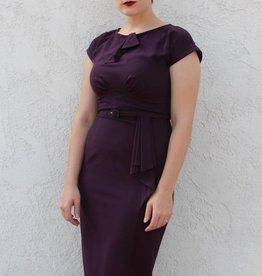 Timeless Eggplant Dress